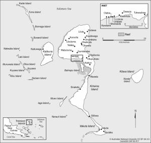 Kiriwina mapa